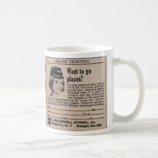 Vintage Stewardess Coffee Mug