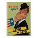 Vintage STFU o GTFO Tarjetas Postales