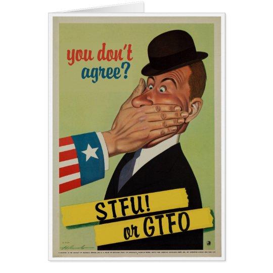Vintage STFU or GTFO Card