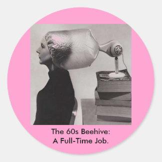 Vintage Sticker ~ Sixties Beehive Hairdo