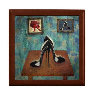 Vintage Stiletto Painting - Digital Art Keepsake Box