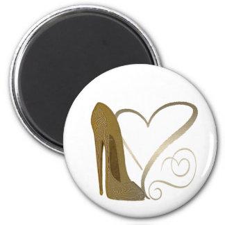 Vintage stiletto shoe hearts Magnet