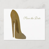 Vintage Stiletto Shoe High Heel Art Gifts Announcement Postcard
