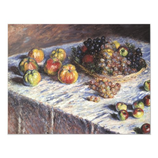 Vintage Still Life by Claude Monet, Thanksgiving Custom Invite