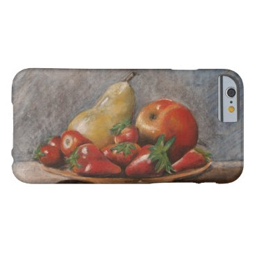 Vintage Still Life-Strawberries Fruits rustic Barely There iPhone 6 Case
