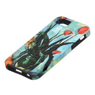 Vintage Still Life, Tulips in a Vase by Cezanne iPhone 5 Cases