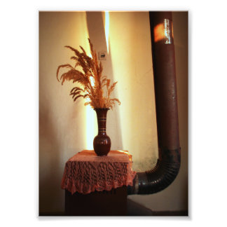 Vintage Still Life (Vase and a Stove) Photo