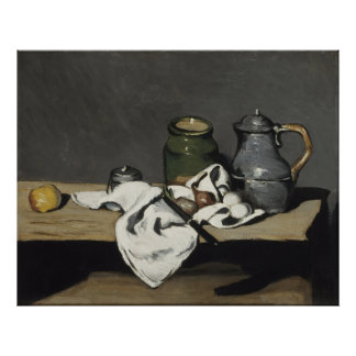 Vintage Still Life with a Kettle by Paul Cezanne Poster
