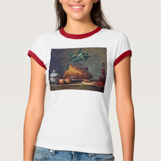 Vintage Still Life with Brioche by Chardin T-Shirt