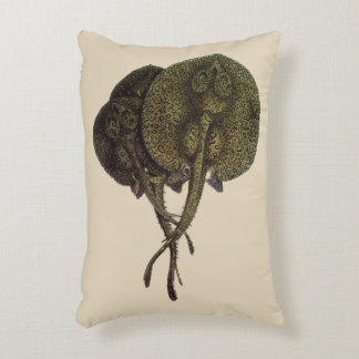 Vintage Sting Rays Stingrays, Marine Life Animals Decorative Pillow