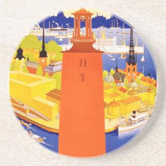 Vintage Stockholm Sweden Coaster