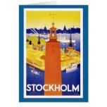 Vintage Stockholm Sweden Greeting Card