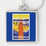Vintage Stockholm Sweden Key Chain