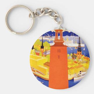 Vintage Stockholm Sweden Keychain