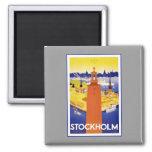 Vintage Stockholm Sweden Magnet