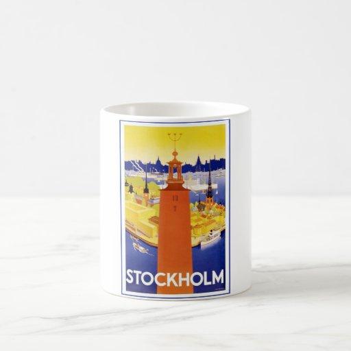 Vintage Stockholm Sweden Mugs
