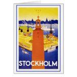 Vintage Stockholm Sweden Stationery Note Card