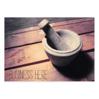 Vintage Stone Pestle and Mortar Retro Inspired Large Business Card