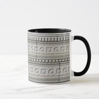 Vintage Stone Squares Circles Architectual Mug