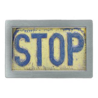Vintage Stop Sign Belt Buckle
