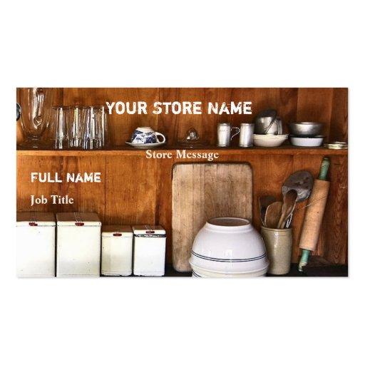 Vintage Store / Bake Shop Business Cards