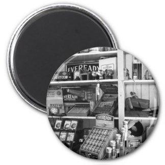 Vintage Store Shelves 2 Inch Round Magnet
