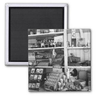 Vintage Store Shelves 2 Inch Square Magnet