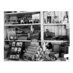 Vintage Store Shelves Postcard
