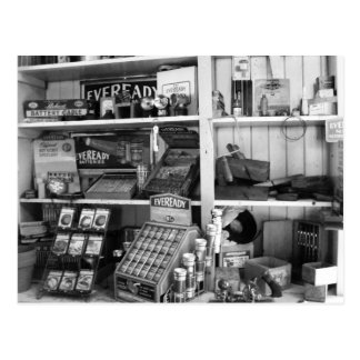 Vintage Store Shelves Post Card