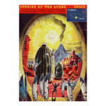 Vintage Stories of the Stars Science Fiction Alien Poster