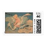 Vintage Stork Baby Stamp