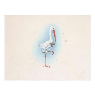 Vintage Stork Postcard
