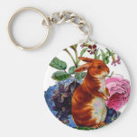 Vintage Story Book Bunny Key Chain