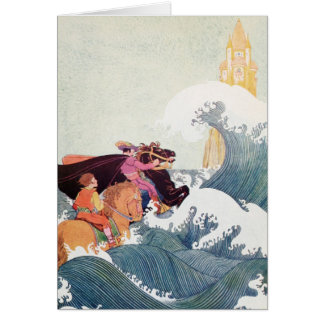 Vintage Story Book Illustration: A Great Castle Card