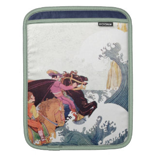 Vintage Story Book Illustration: A Great Castle iPad Sleeve