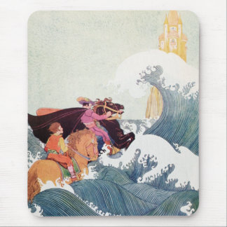 Vintage Story Book Illustration: A Great Castle Mouse Pad