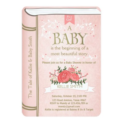 Once Upon A Time Storybook Baby Shower Invitation Zazzle Com