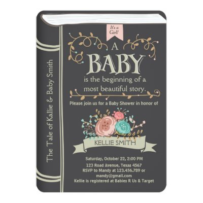 vintage storybook baby shower card | zazzle, Baby shower invitations