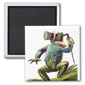 Vintage Storybook Dancing Frog Magnet