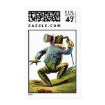 Vintage Storybook Dancing Frog postage