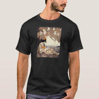 Vintage Storybook Girl Under Tree T-Shirt