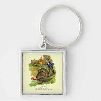 Vintage Storybook Thanksgiving Key Chains