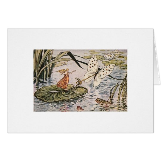 Vintage Storybook Thumbelina Card