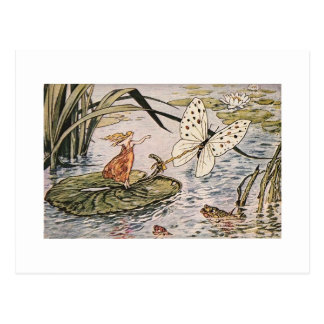 Vintage Storybook Thumbelina Postcard