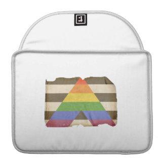 Vintage straight ally flag sleeves for MacBooks