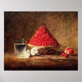 Vintage Strawberries - by Jean Simeon Chardin Poster