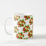 Vintage Strawberries Classic White Coffee Mug