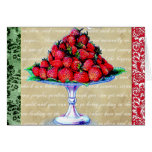 Vintage Strawberries Collage Greeting Cards