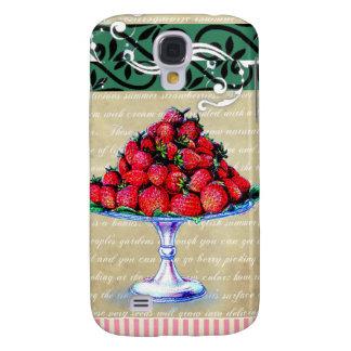 Vintage Strawberries Collage Samsung S4 Case