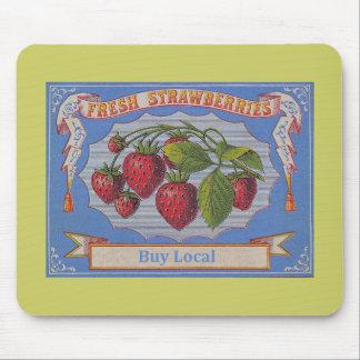 vintage strawberries mouse pad